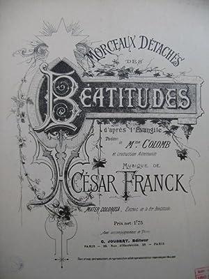 FRANCK César Les Béatitudes Mater Dolorosa Piano: FRANCK César Les
