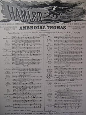 THOMAS Ambroise Hamlet n° 2 Chant Piano 1928