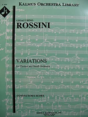 ROSSINI G. Variations Clarinette Orchestre