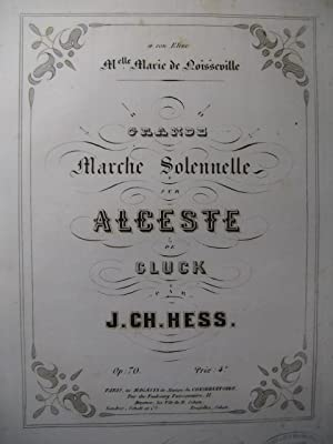 HESS J. Ch. Grande Marche Solennelle Piano: HESS J. Ch.