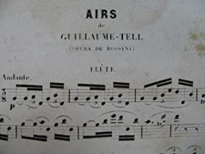 ROSSINI G. Airs de Guillaume Tell Flute solo 1862