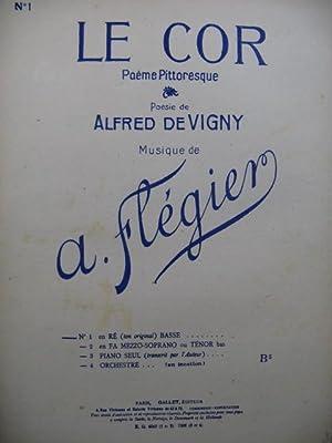 FLÉGIER A. Le Cor Chant Piano 1947: FLÉGIER A. Le
