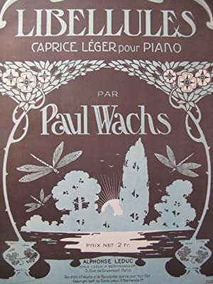 WACHS Paul Libellules Piano 1905