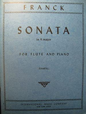 FRANCK César Sonata in A Major Piano Flute