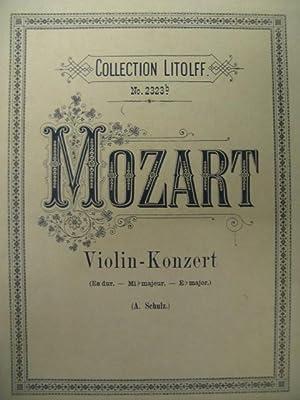 MOZART W. A. Violin Konzert es dur: MOZART W. A.