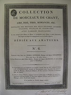 Collection de Morceaux de Chant n° 6 Chant Harpe ou Piano ca1805