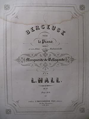 HALL L. Berceuse op 67 Piano 1853