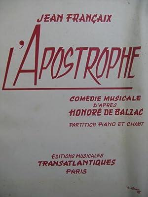 FRANÇAIX Jean L'Apostrophe Chant Piano 1958: FRANÇAIX Jean L'Apostrophe