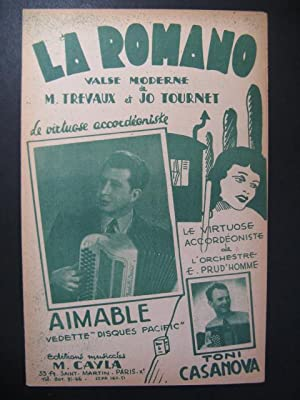 La Romano Valse Musette Accordéon 1952