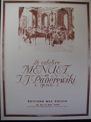 PADEREWSKI I. J. Menuet pour Piano 1946: PADEREWSKI I. J.