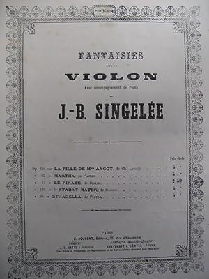 SINGELÉE J. B. Flotow Martha Violon Piano: SINGELÉE J. B.