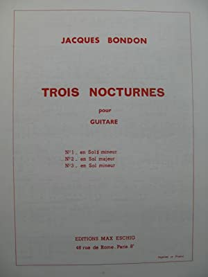 BONDON Jacques Nocturne No 2 Guitare 1972