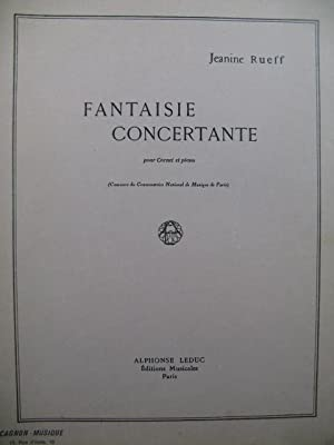 RUEFF Jeanine Fantaisie Concertante Piano Cornet 1949: RUEFF Jeanine Fantaisie