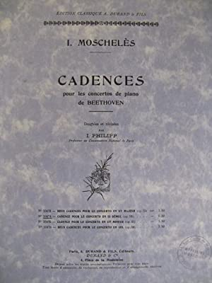 MOSCHELES I. Cadences Beethoven op19 Piano: MOSCHELES I. Cadences