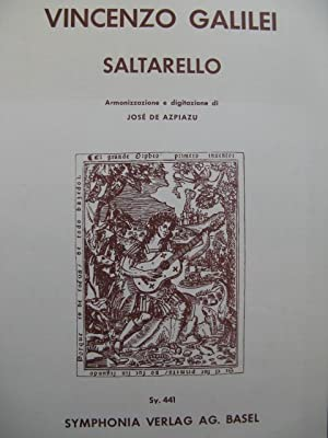 GALILEI Vincenzo Saltarello Guitare 1956: GALILEI Vincenzo Saltarello