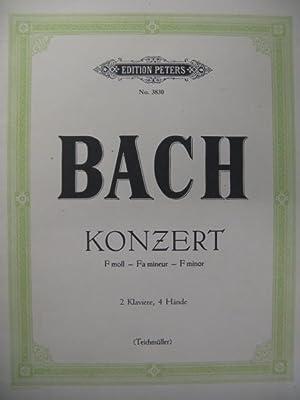 BACH J. S. Konzert f moll Piano: BACH J. S.