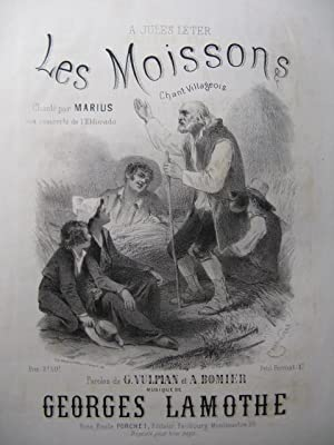 LAMOTHE Georges Les Moissons Chant Piano XIXe