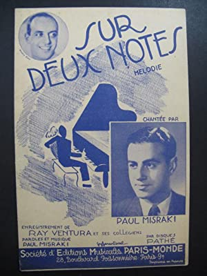 Sur deux notes Mélodie Paul Misraki 1938