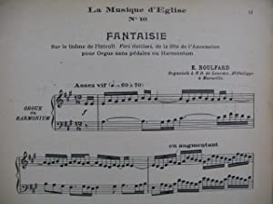 BOULFARD E. Fantaisie Orgue Harmonium