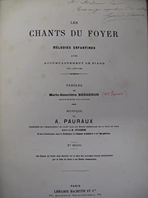 PAURAUX A. Les Chants du Foyer Chant Piano XIXe