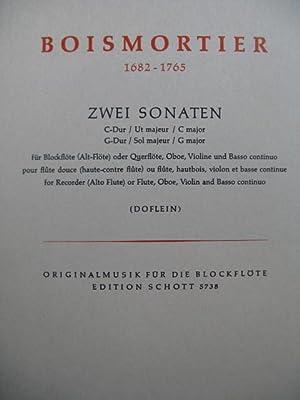 BODIN DE BOISMORTIER Joseph 2 Sonaten Flute: BODIN DE BOISMORTIER