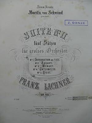 LACHNER Franz Suite No 2 Orchestre 1864: LACHNER Franz Suite