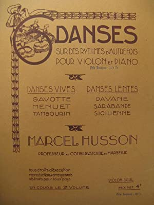 HUSSON Marcel Danses Violon Piano