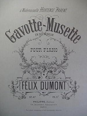 DUMONT Félix Gavotte Musette Piano XIXe: DUMONT Félix Gavotte