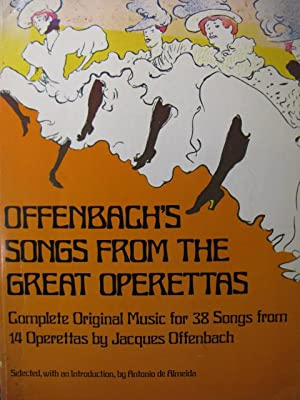 OFFENBACH Jacques Songs from the Great Operettas Chant Piano 1976
