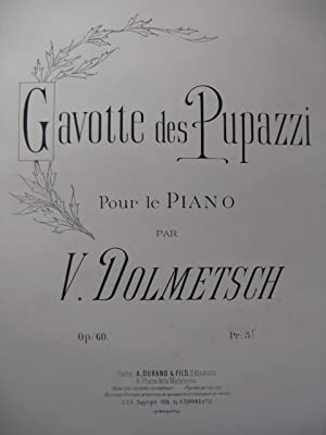 DOLMETSCH Victor Gavotte des Pupazzi pour Piano 1892