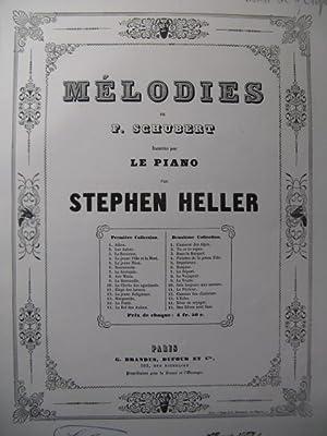 SCHUBERT Franz La Truite Piano ca1855: SCHUBERT Franz La