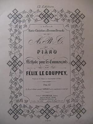 LE COUPPEY Félix ABC du Piano Méthode