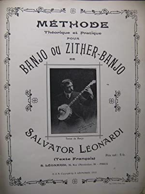 LEONARDI Salvator Méthode Banjo ou Zither-Banjo 1913