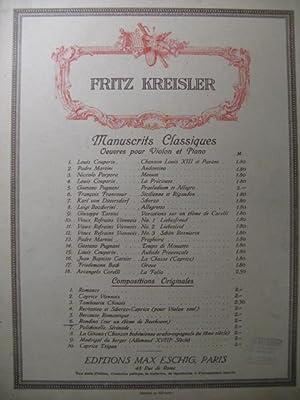 KREISLER Fritz Rondino Beethoven Violon Piano: KREISLER Fritz Rondino