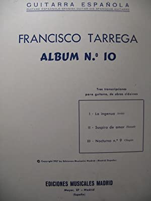 TARREGA Francisco Album n° 10 Guitare 1957