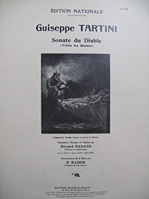 TARTINI Giuseppe Sonate du Diable Violon Piano 1929