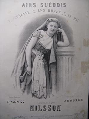 WEKERLIN J. B. Airs Suédois Les Roses Chant Piano ca1865