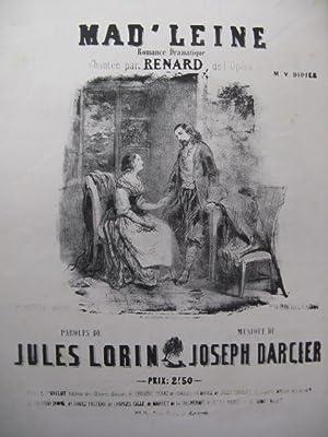 DARCIER Joseph Mad'leine Chant Piano XIXe: DARCIER Joseph Mad'leine