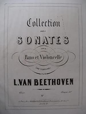 BEETHOVEN Sonate op. 102 n° 2 Violoncelle Piano 1858