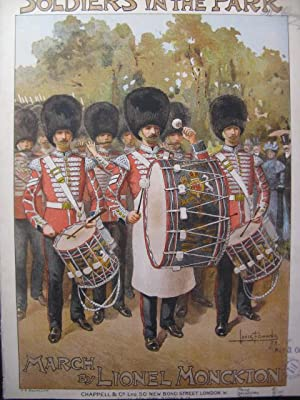 MONCKTON Lionel Soldiers in the Park Piano 1898
