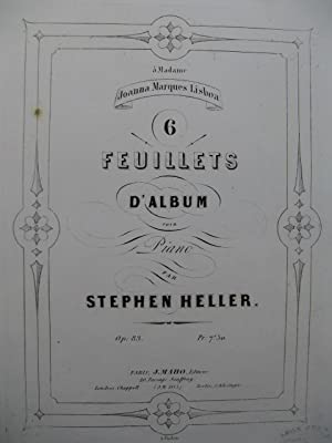 HELLER Stephen 6 Feuillets d'Album Piano 1854: HELLER Stephen 6