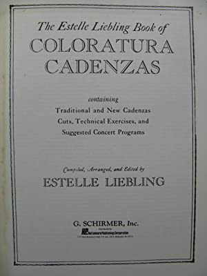 LIEBLING Estelle Book of Coloratura Cadenzas