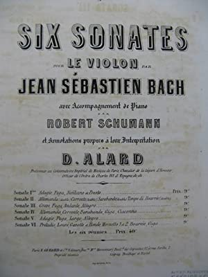 BACH J. S. Sonate No 3 Violon Piano ca1860