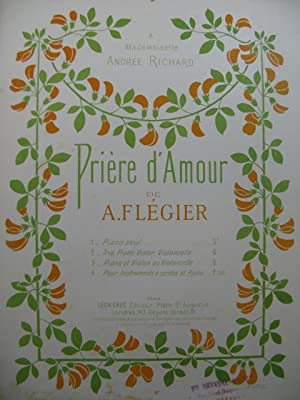 FLEGIER A. Prière d'Amour piano: FLEGIER A. Prière