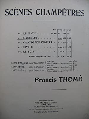 THOMÉ Francis L'Angelus Piano Cloches 1904