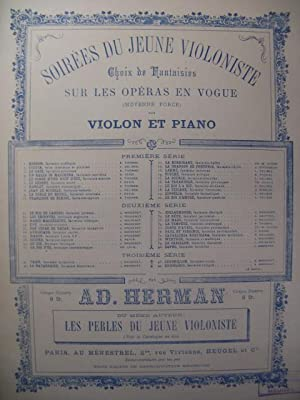 MASSENET Jules Manon Fantaisie Piano Violon 1895