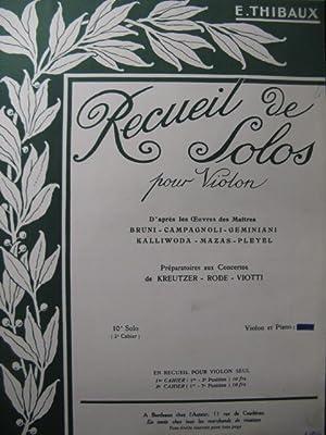 PLEYEL Ignace 10e Solo E. Thibaux Violon: PLEYEL Ignace 10e