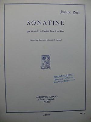 RUEFF Jeanine Sonatine Piano Trompette ou Cornet: RUEFF Jeanine Sonatine