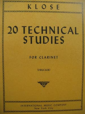 KLOSÉ H. 20 Technical Studies for Clarinet Clarinette