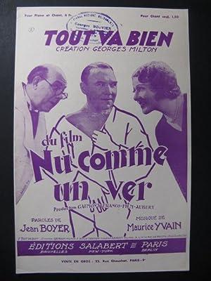 Tout va bien Chanson Maurice Yvain 1933: Tout va bien